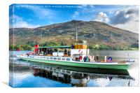 Raven on Ullswater, Canvas Print