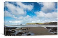 Polzeath Beach, Cornwall, Canvas Print
