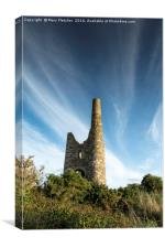Wheal Peevor , Canvas Print