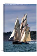 Tallships Eve and Bessie Ellen, Canvas Print