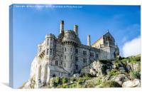 St Michaels Mount Castle, Canvas Print
