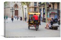 Barcelona Street, Canvas Print