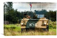 British Armoured Personnel Carrier, Canvas Print