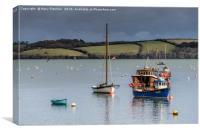 Mylor Fishing Boats, Canvas Print