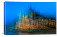 Impression of the Parliament Buildings, Budapest, Canvas Print