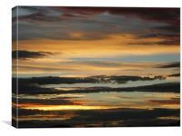 Sunset in Aberdeenshire, Canvas Print