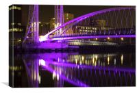 Millenium Footbridge, Salford Quays, Manchester, Canvas Print