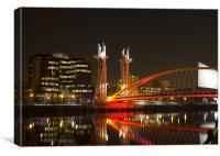 The Lowry Bridge, Canvas Print