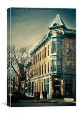 Old Town Fort Collins, Canvas Print