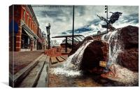 Old Town Square Fountain, Canvas Print
