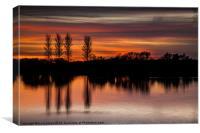 Abberton Reservoir, Sunset, Canvas Print