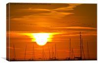 A sunrise at Leigh-on-Sea, Canvas Print