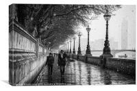 A snowy london, Canvas Print