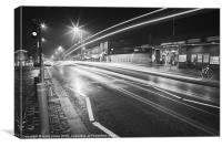 Heathway light trails., Canvas Print