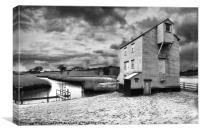 Thorrington tide mill, Canvas Print