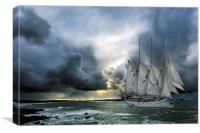 kapitan borchardt, Canvas Print