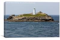 godrevy lighthouse, Canvas Print