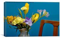 Beautiful Flowers - Analogous Colour, Canvas Print
