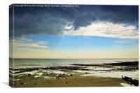 The Stormy Warren - Folkestone, Canvas Print