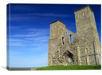 Reculver - St Marys Church Ruins, Canvas Print