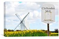 Chillenden Mill, Canvas Print
