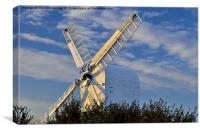 Chillenden Mill Sunset, Canvas Print