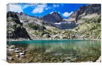 Lac Blanc, Canvas Print