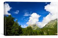 Mysterious Mountain Cloud, Canvas Print