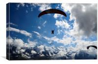 Mont Blanc Gliders, Canvas Print