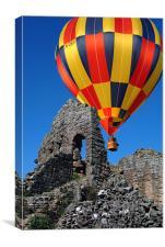 Balloon over Caldicot Castle, Canvas Print