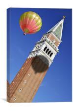Balloon over Venice, Canvas Print