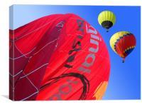 Balloon landing, Canvas Print