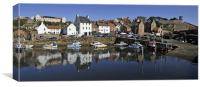 Crail Harbour reflections, Canvas Print