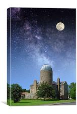 The Old Observatory, Day to Night, Canvas Print
