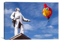 Statue and Woody Balloon, Canvas Print
