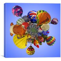 Balloon Fiesta Little Planet, Canvas Print