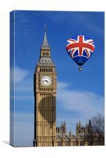 Big Ben and Balloon, Canvas Print