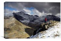 Yr Aran - Snowdonia, Canvas Print
