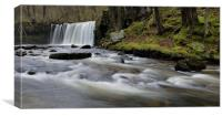Pontneddfechan Waterfall, Canvas Print