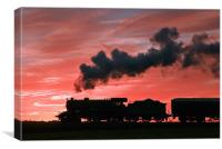Steam Sunset Silhouette, Canvas Print