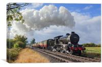 """""""Morayshire"""" with an early morning passenger train, Canvas Print"""