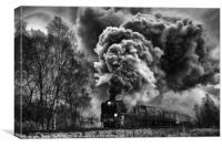 Volcano on the move, Canvas Print
