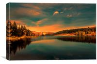Magic Hour at Osmotherly Reservoir., Canvas Print