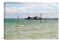 Florida fishing pier, Canvas Print