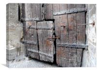 Weathered wooden doors, Canvas Print