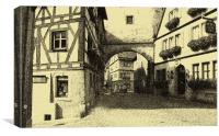 Medieval city street, Canvas Print