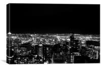 New York City by night, Canvas Print