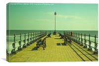 Swanage Jetty Vintage, Canvas Print