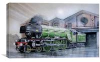 Water colour painting of the Flying Scotsman, Canvas Print
