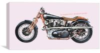 A Superior Motorcycle, Canvas Print